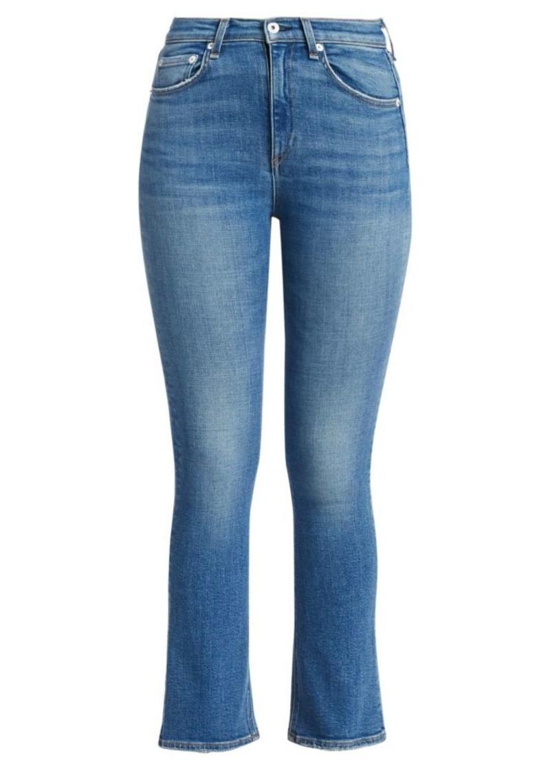 rag & bone Nina High-Rise Ankle Crop Flare Jeans