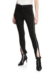Rag & Bone Nina High-Rise Ankle Skinny w/ Zippers