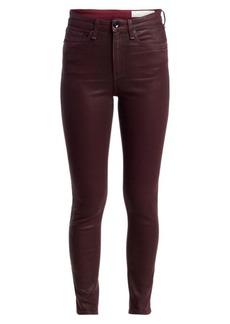 rag & bone Nina High-Rise Coated Ankle Skinny Jeans