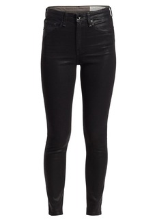 rag & bone Nina High-Rise Coated Ankle Skinny Jeans