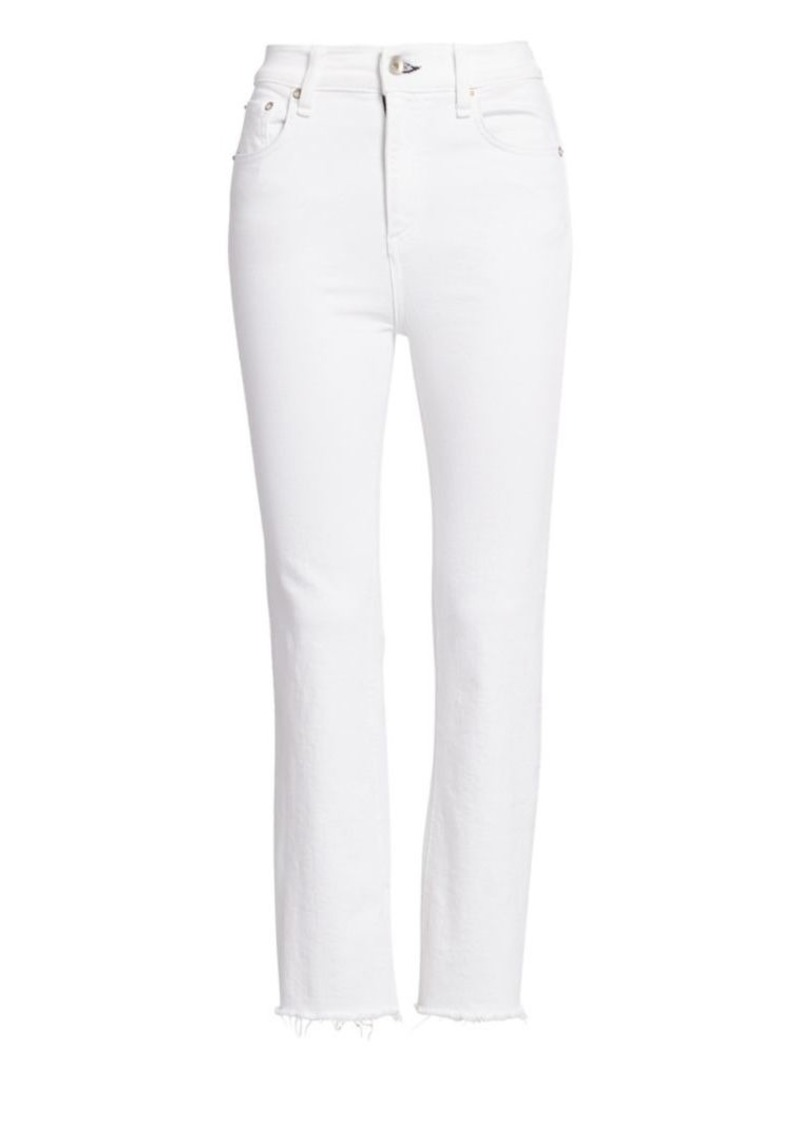rag & bone Nina High-Rise Crop Ankle Raw Hem Jeans