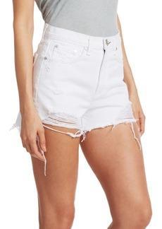 rag & bone Nina High-Rise Distressed Denim Shorts