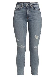 rag & bone Nina High-Rise Distressed Skinny Jeans