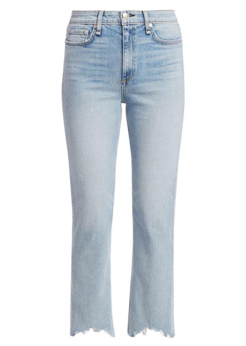 rag & bone Nina High-Rise Frayed Cigarette Jeans