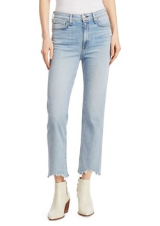 rag & bone Nina High-Rise Frayed Cigarette Jeans