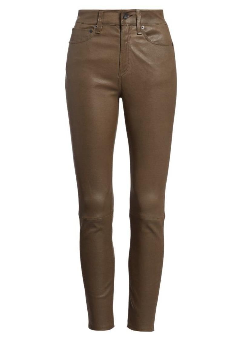rag & bone Nina High-Rise Leather Ankle Skinny Jeans