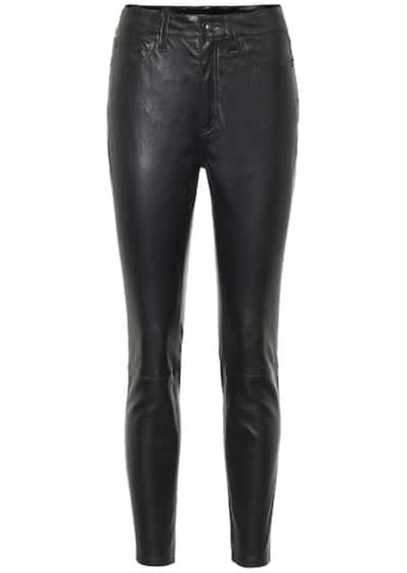 rag & bone Nina high-rise leather pants