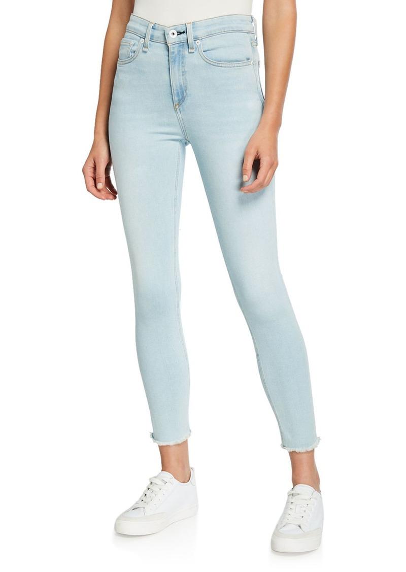 rag & bone Nina High-Rise Skinny Crop Jeans