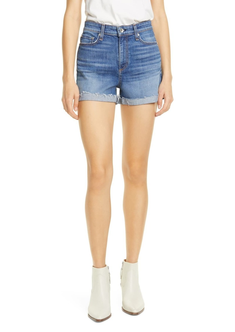 rag & bone Nina High Waist Denim Cutoff Shorts