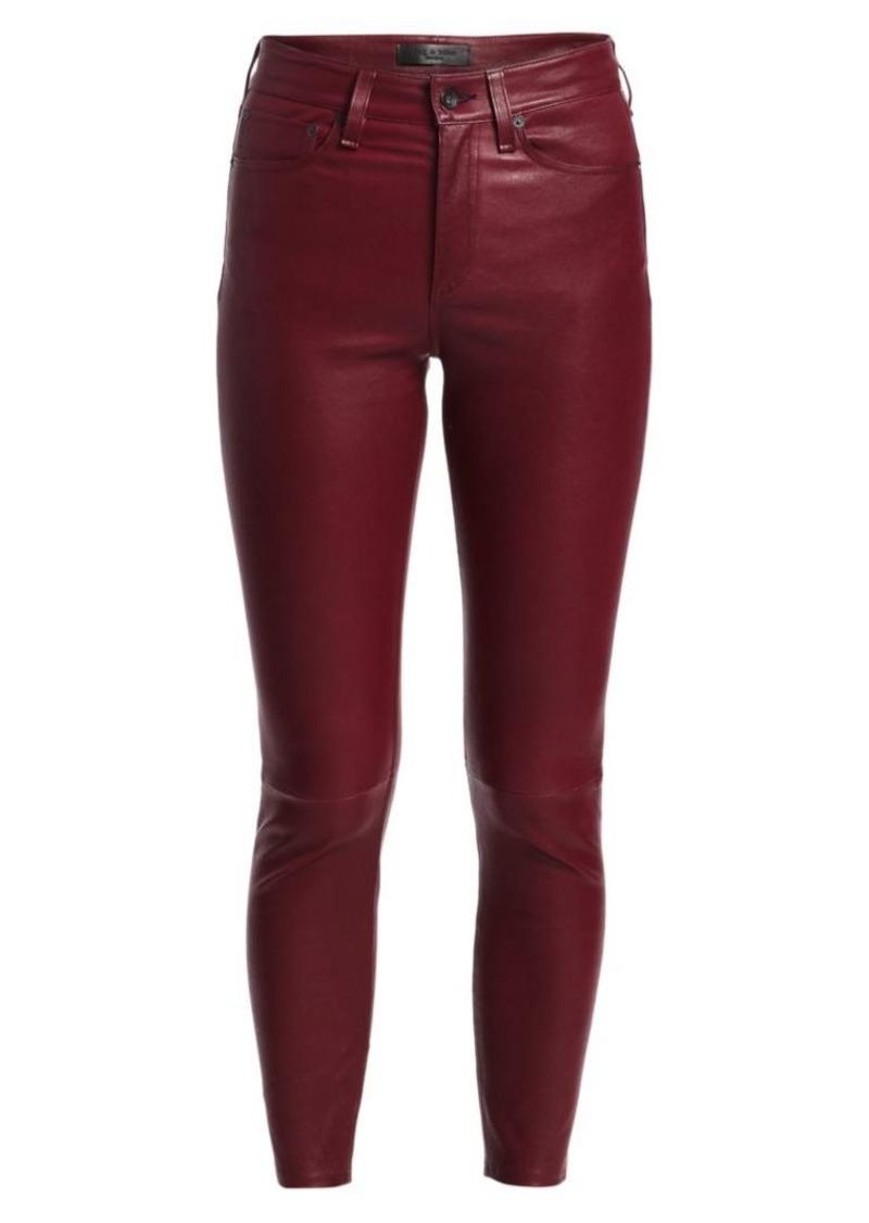 rag & bone Nina Leather High-Rise Skinny Ankle Pants