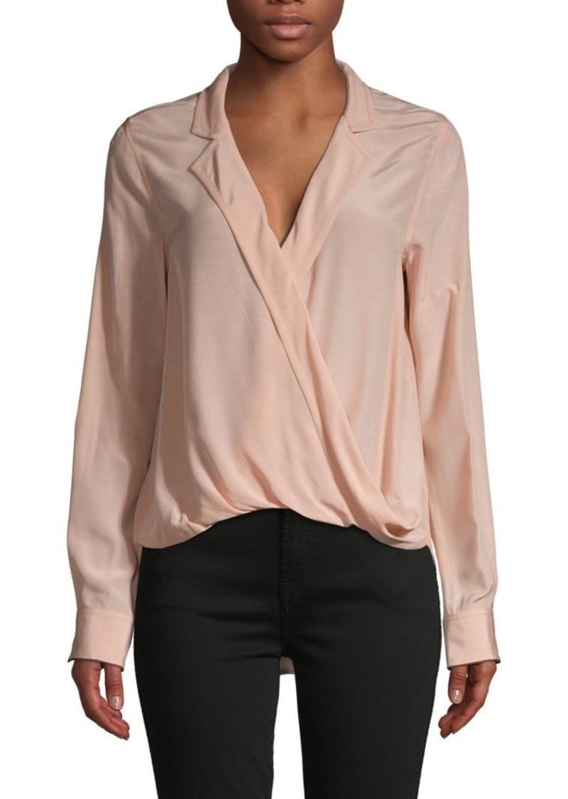 rag & bone Notch-Lapel Faux-Wrap Shirt