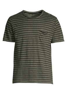 Rag & Bone Owen Linen Stripe Pocket Tee