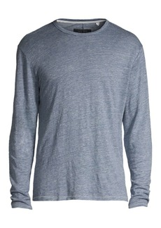 rag & bone Owen Long-Sleeve Linen Tee