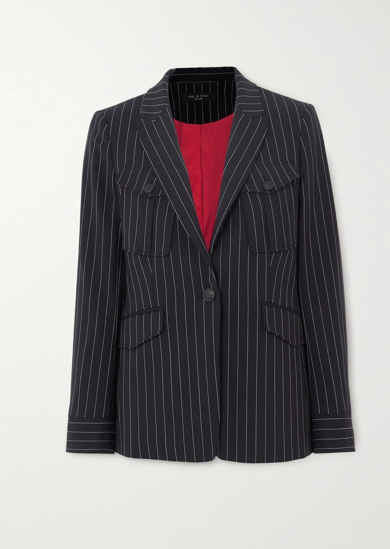 rag & bone Owen Pinstriped Wool-blend Blazer
