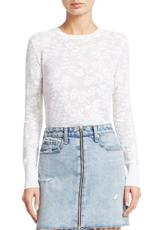 rag & bone Perry Floral Jacquard Long-Sleeve Tee