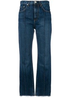 Rag & Bone pin tuck detail cropped jeans