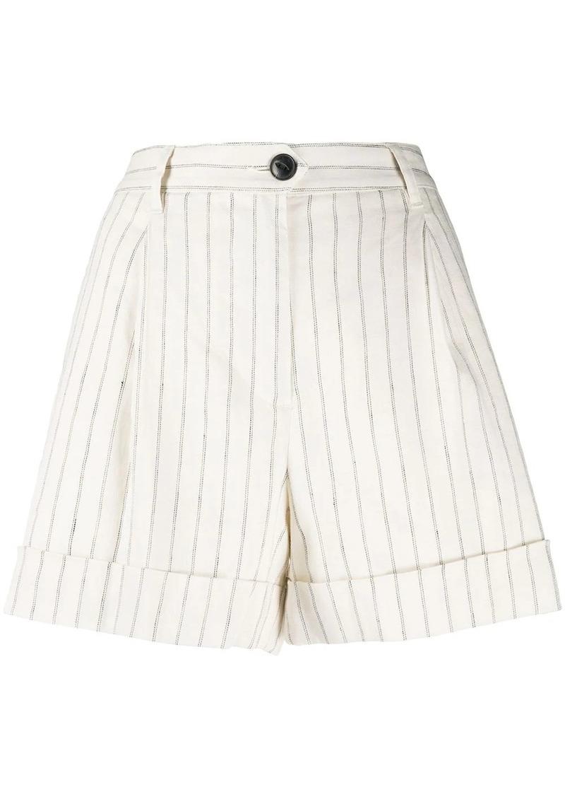 rag & bone pinstripe print shorts