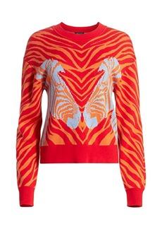 rag & bone Plaza Zebra-Print Sweater