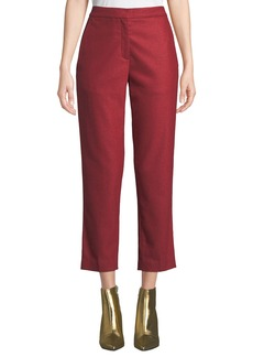 Rag & Bone Poppy Straight-Leg Cropped Wool Pants