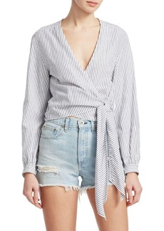 rag & bone Prescot Striped Wrap Blouse