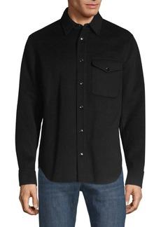 Rag & Bone Principle Stretch Wool Long-Sleeve Shirt Jacket