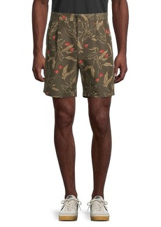 rag & bone Printed Cotton-Blend Shorts