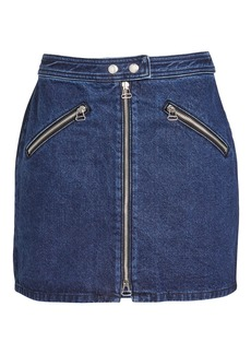 Rag & Bone Racer Denim Mini Skirt