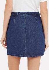 Rag & Bone Racer Denim Mini Skirt
