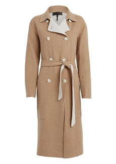 rag & bone Rach Reversible Wool-Blend Trench Coat
