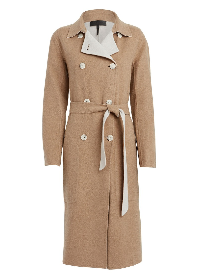 Rach Reversible Wool-Blend Trench Coat