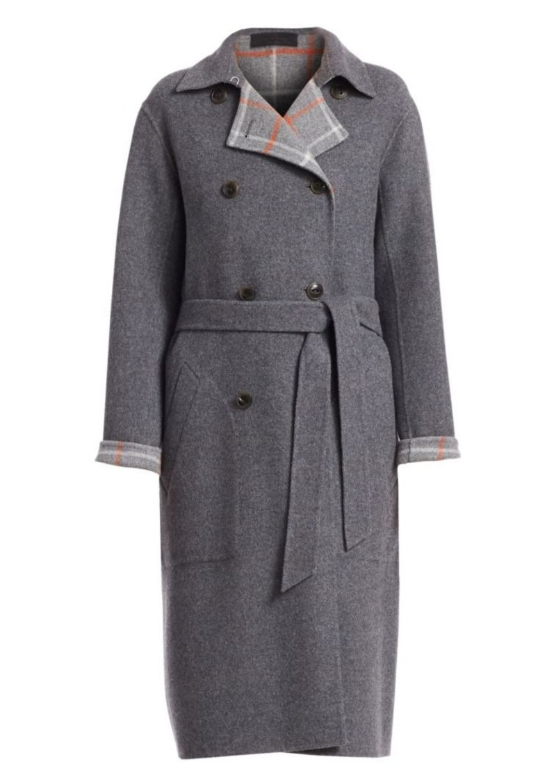 rag & bone Rach Wool Blend Reversible Coat