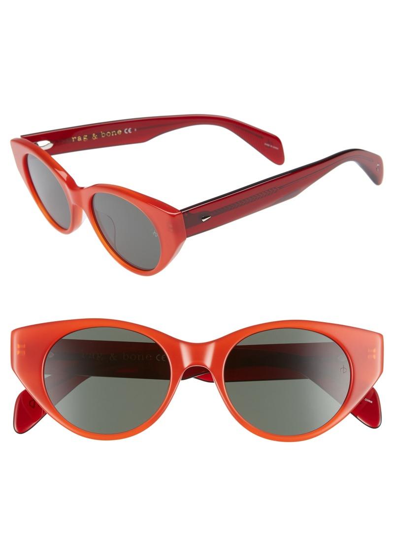 rag & bone 49mm Cat Eye Sunglasses