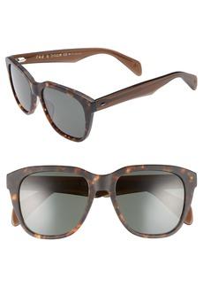 rag & bone 49mm Rectangle Sunglasses