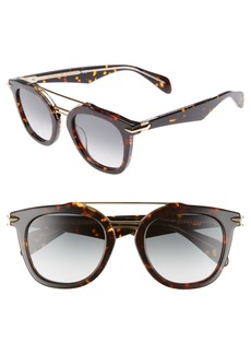 rag & bone 50mm Round Aviator Sunglasses