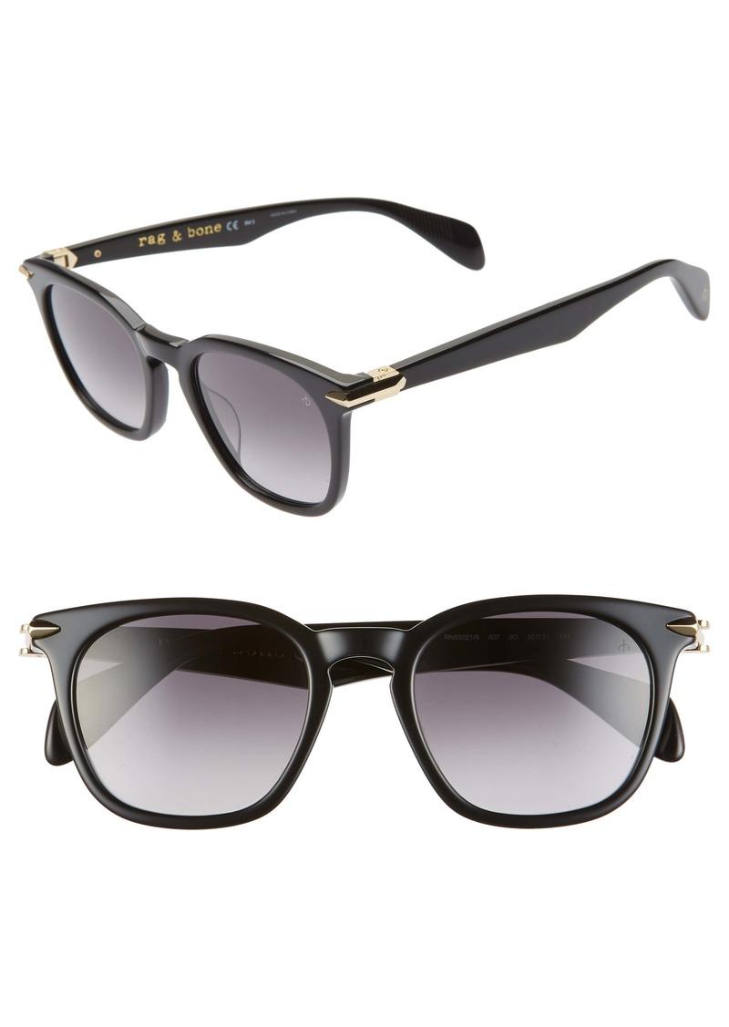 rag & bone 50mm Round Sunglasses