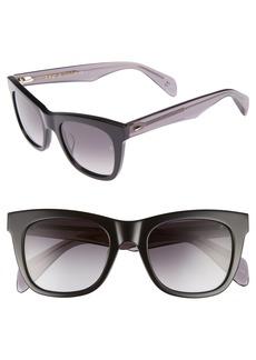 rag & bone 50mm Square Cat Eye Sunglasses