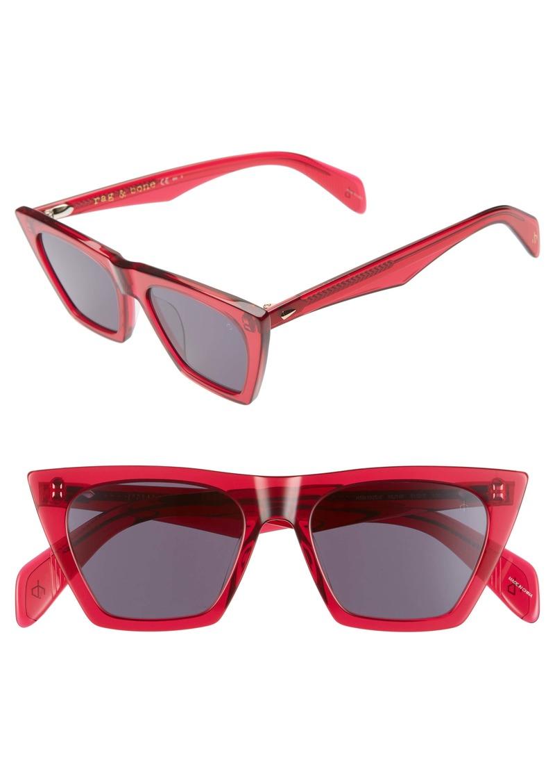 rag & bone 51mm Cat Eye Sunglasses