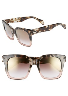 rag & bone 51mm Polarized Mirrored Square Sunglasses