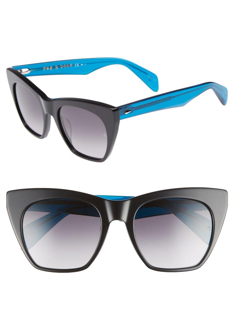 rag & bone 52mm Cat Eye Sunglasses