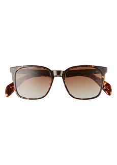 rag & bone 52mm Polarized Rectangular Sunglasses