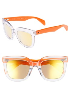 rag & bone 52mm Rectangular Sunglasses