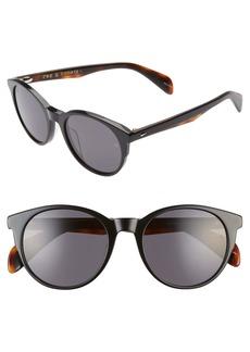 rag & bone 52mm Round Cat Eye Sunglasses