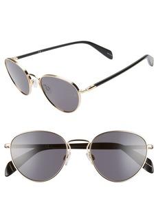 rag & bone 52mm Round Sunglasses