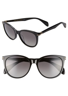 rag & bone 54mm Polarized Round Sunglasses
