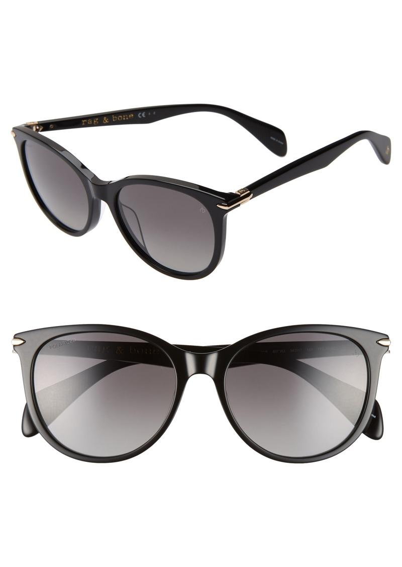 rag & bone 54mm Polarized Round Sunglasses