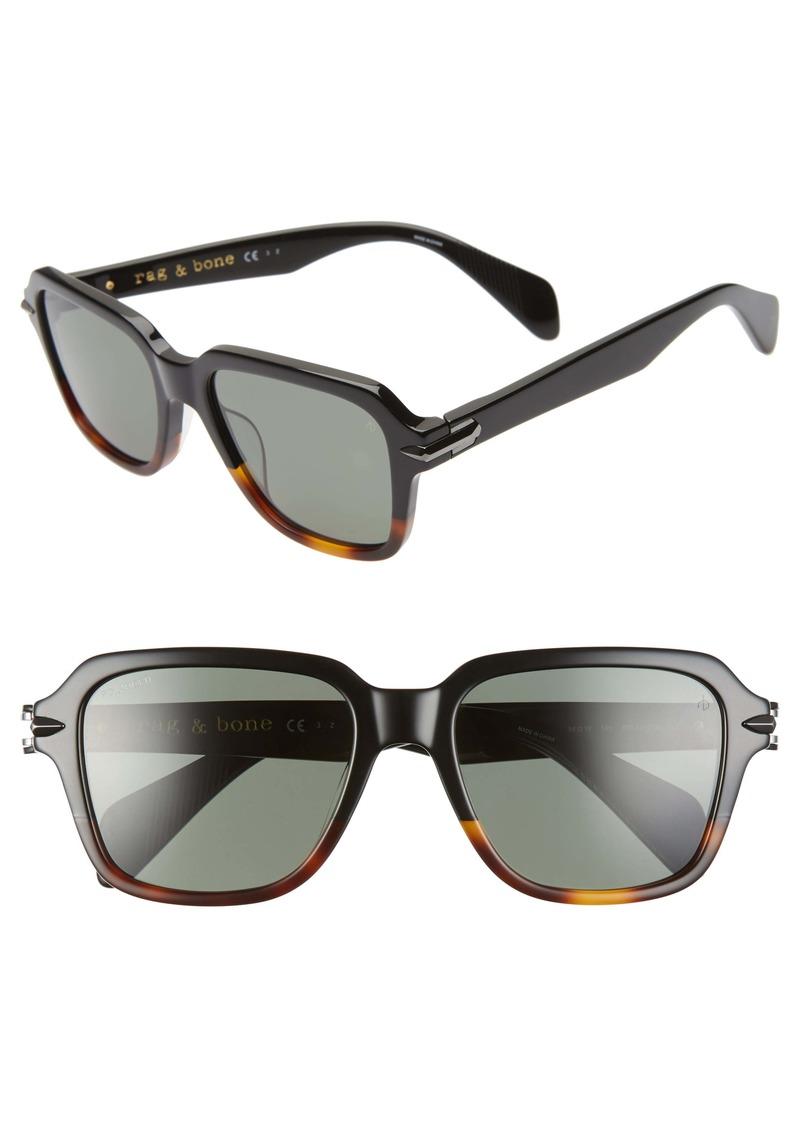 rag & bone 54mm Polarized Square Sunglasses