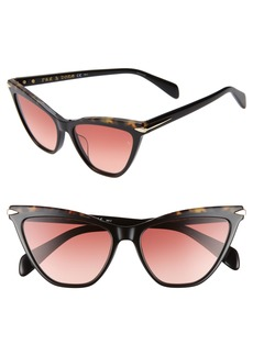 rag & bone 55mm Cat Eye Sunglasses