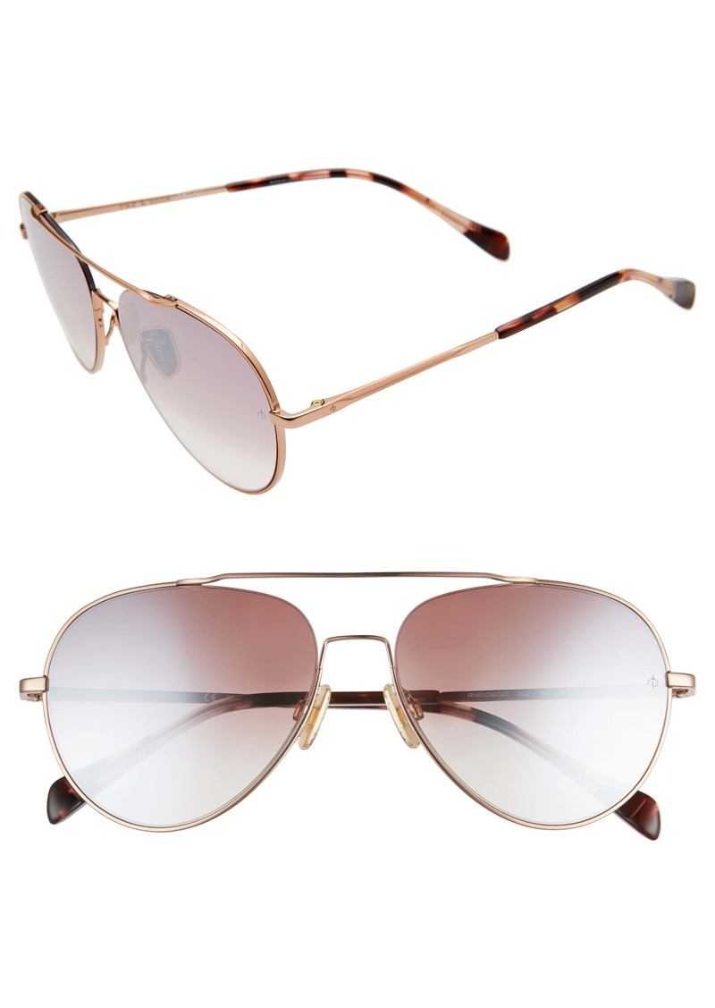 rag & bone 55mm Gradient Aviator Sunglasses
