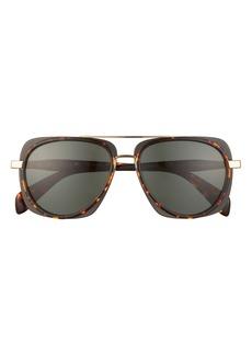 rag & bone 55mm Polarized Round Sunglasses