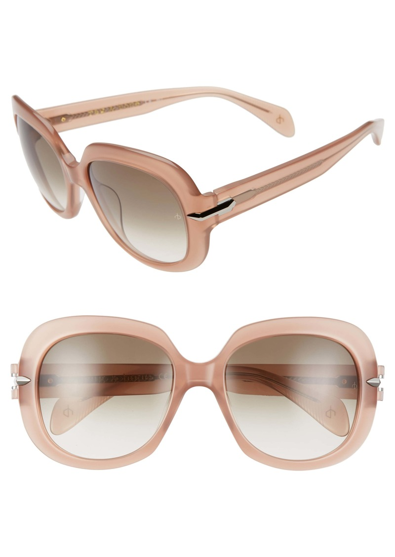 rag & bone 55mm Square Sunglasses